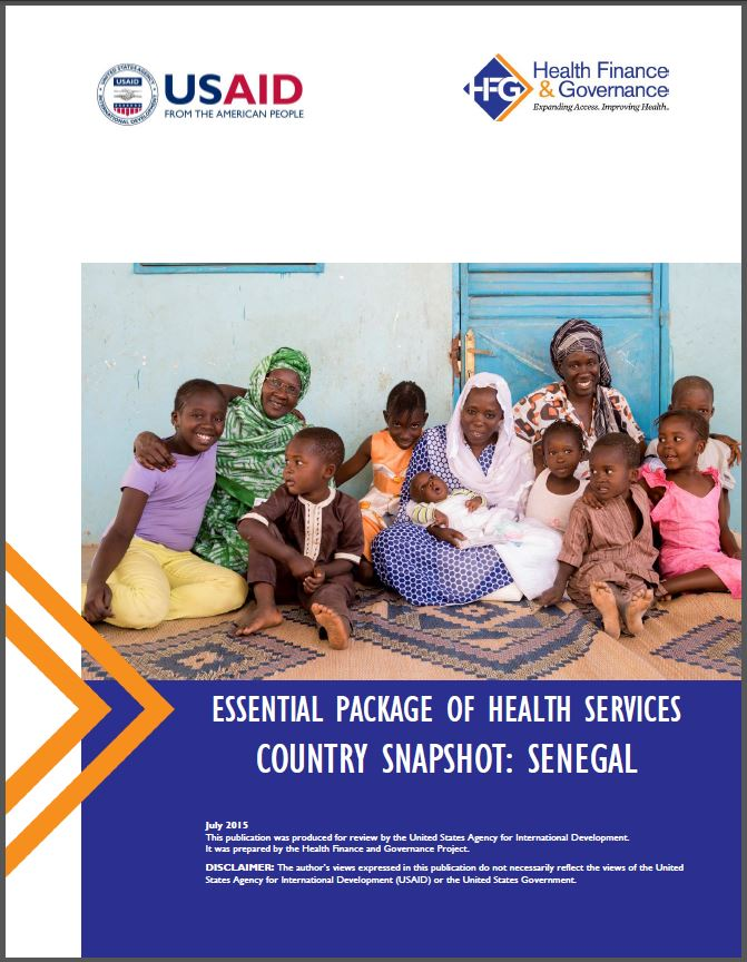 Senegal EPHS cover page