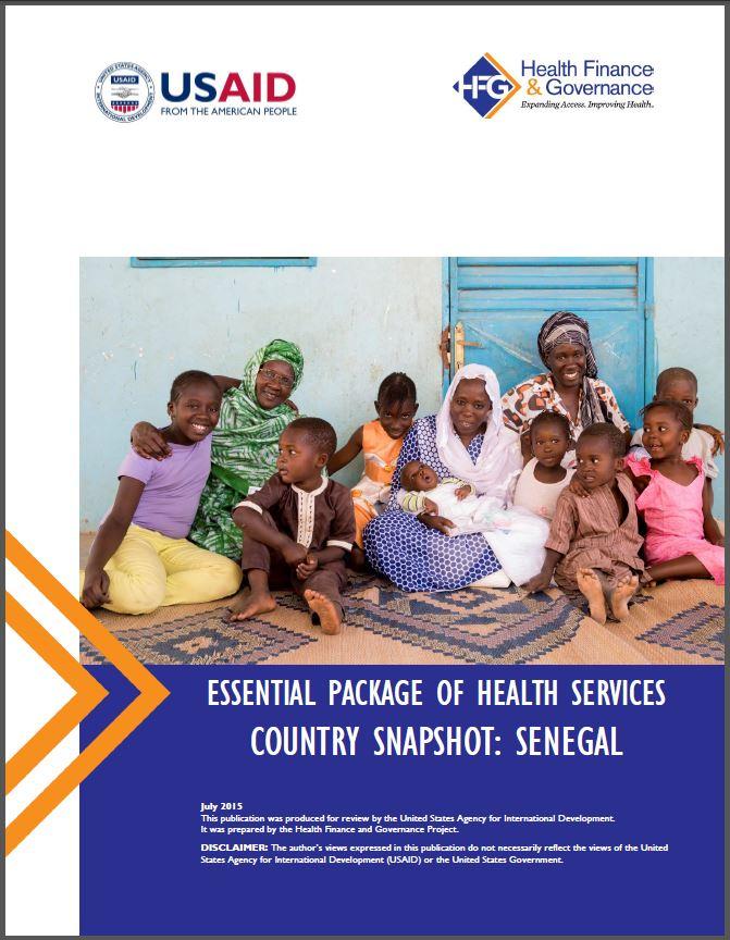 Senegal EPHS cover page