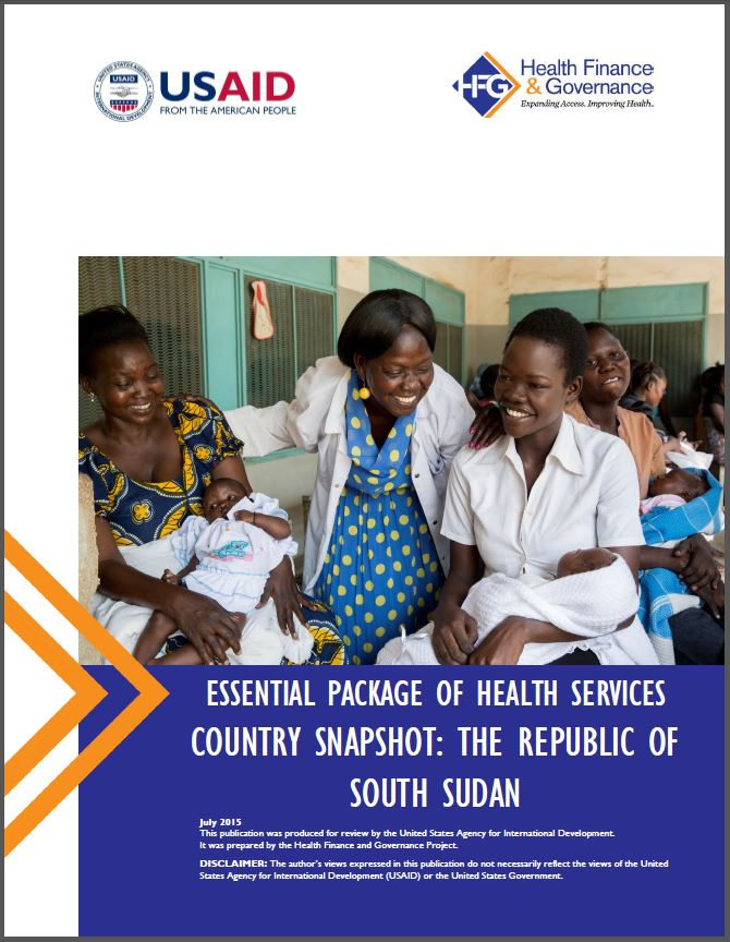 South Sudan EPHS cover page