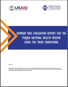 Summary RHIS eval report screenshot