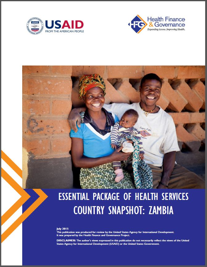 Zambia EPHS cover page