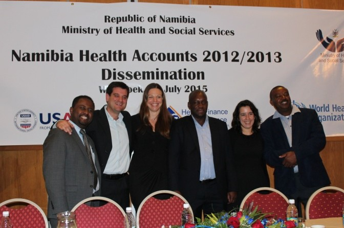 Members of the Health Accounts Team in Namibia