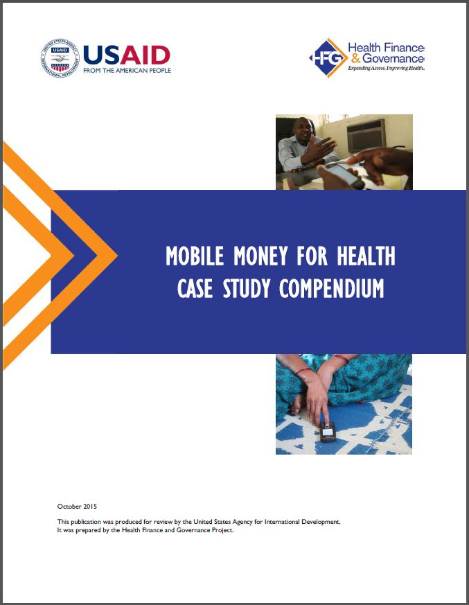 Cover: Mobile Money for Health Case Study Compendium