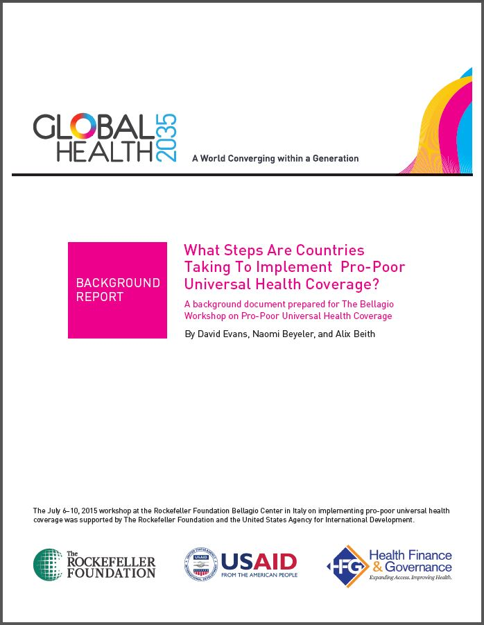 Cover page: What Steps Are Countries Taking to Implement Pro-Poor Universal Health Coverage?