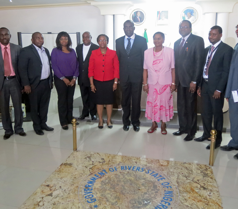 Dr. Ipalibo Baniogo, Deputy Governor of Rivers State with development partners and stakeholders