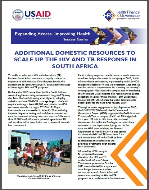 SA success story