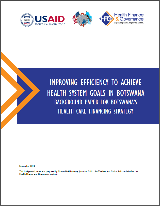 Improving Efficiency to Achieve Health System Goals in