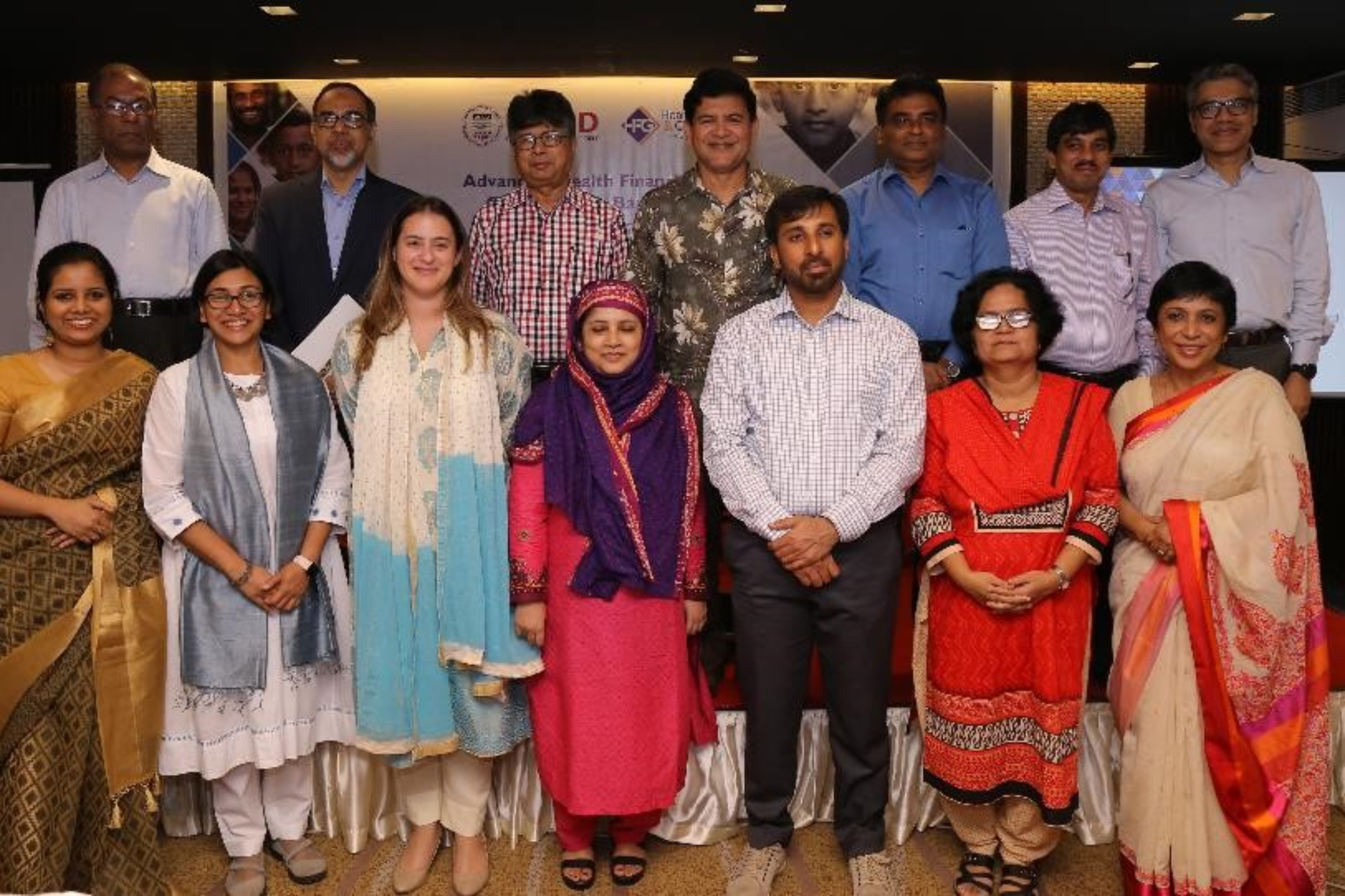 Group photo with guests and panelist